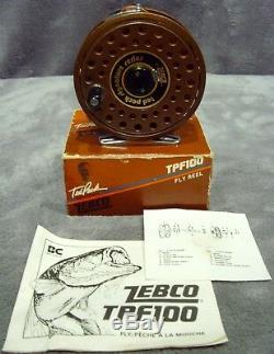 Bobine De Mouche Zebco Tpf100 Vintage, 1986, Neuf En Boîte Ted Peck Signature Series Japon