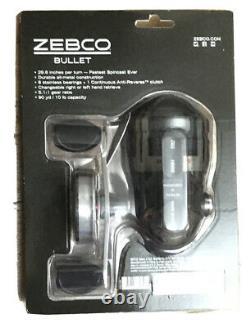 Bullet Zebco Bullet Rapport D'engrenage 5.1 1 Super Cast Fast Spin Reel Reel Fermé Visage