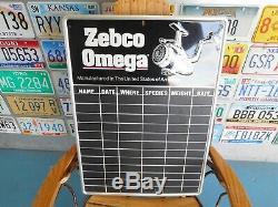 Enseigne Publicitaire Vintage Zebco Reels