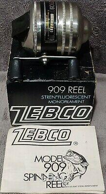 Lire 8 Vintage Zebco 909 Spin Reel Cast Dans L'encadré Groupe Collection Lot 7/8 Versions