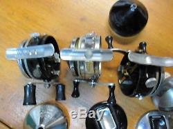 Lot De 3 Rare Collector Zebco 33 Bobines, Boîtes, 2 Tulsa Ok, Brass Leds