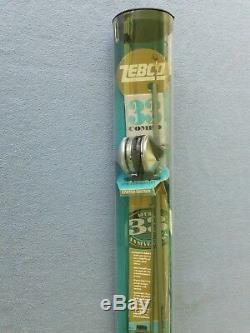 Moulinet Zebco 33 Spincast - Combiné Rod-n-reel-33 Watch-nos En Tube, 40e Anniversaire
