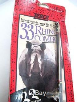 Nouveau Millésime 1994 Zebco 33 Rhino Tough Combo Rod & Deux Bobines Zrc56ml Zr3333 -s3