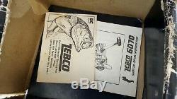 Pêche Rare Tackle Vtg Zebco 6070 Jupette Moulinet Boîte Originale Paperasserie