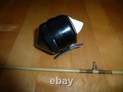 Rare Vintage Fishing Rod Reel Zebco Centenial Beautiful Shape Leurre À Collectionner