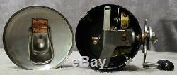 Vintage 1955-1963 Zebco 55 Heavy Duty Spinner Reel + Box + Manuel Rare USA