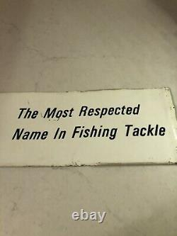 Vintage 1963 Zebco Fishing Tackle Advertising Sign Rare Store Display Reel Cannes