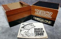 Vintage 1976 Zebco Omega One Nouveau Dans La Boîte Comprend Manuel De Papier Fabriqué Aux États-unis