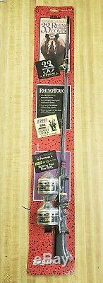 Vintage 1994 1994 Zebco 33 Rhino Tough Combo Avec Tige Et Deux Moulinets