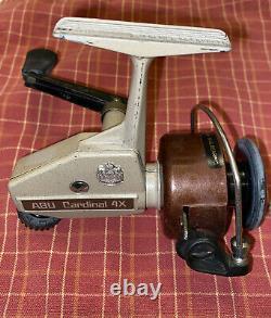 Vintage Abu Cardinal 4x Spinning Reel Difficile À Trouver + Un Cardinal Zebco 6