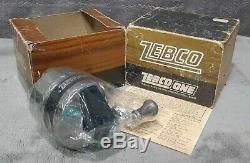 Vintage Cellophane Wrap Dans L'encadré Zebco One Heavy Duty Spincast Reel Très Rare Etats-unis