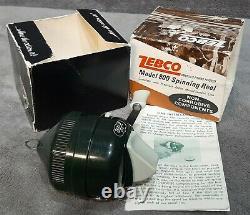Vintage New In Box Badge Emblem Hot Stamp Zebco 800 Spin-cast Reel Made In USA