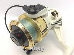 Vintage Utilisé Great White 5.0 Zebco 6 Saltwater Spinning Reel Fishing Magnum Vitesse