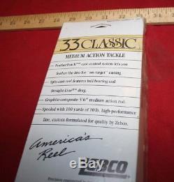 Vintage Zebco 33 Feathertouch Rod / Bobine Combo Encore Scellé Inutilisé 1985 USA Made