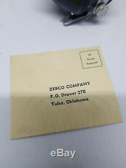 Vintage Zebco 33 Spinner Noir Et Chrome Dans La Boîte Originale Et Papier