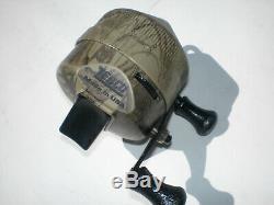 Vintage Zebco 404 Style Camouflage Bobine! Rare Et Complète! Fabriqué Aux États-unis
