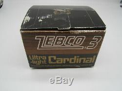 Vintage Zebco Cardinal 3 Abu Pêche Moulinet 770800 Nouveau Dans La Boîte