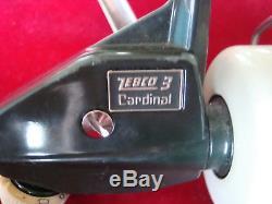 Vintage Zebco Cardinal 3 Spinning Reel Excellent État Fabriqué En Suède