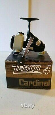 Vintage Zebco Cardinal 4 Avec Boîte Manuelle Outil Excellent Etat