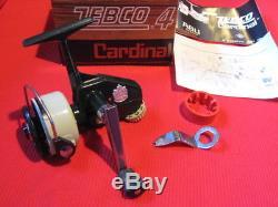 Vintage Zebco Cardinal 4 Spinning Reel Nouveau Dans La Boîte