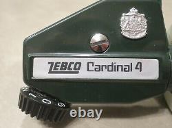 Vintage Zebco Cardinal 4 Suède, Excellent État, 810401