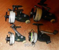 Vintage Zebco Cardinals 3-4-6-7 Clean Nice Extra Spools Également