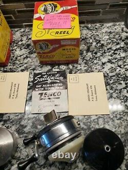 Vintage Zebco Casting Reel-zebco Company-withbox And Papers