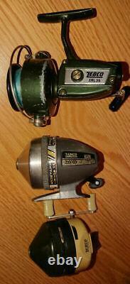 Vintage Zebco Fishing Reels Lot Of 3