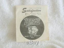 Vintage Zebco Modèle Spinner 55 Boîte D'origine Avec Des Instructions
