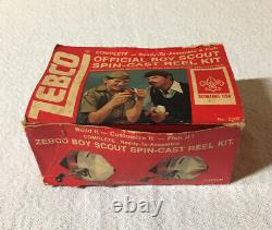 Vintage Zebco Red And White Boy Scouts Of America Fishing Reel USA