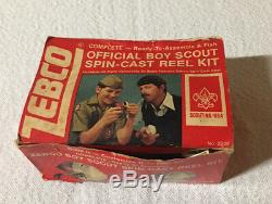 Vintage Zebco Rouge Et Blanc Boy Scouts Of America Moulinet USA