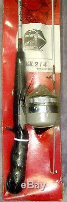 Vintage1982nouveau Sur La Carte! Combo Zebco214rod & Reelfabriqué Aux États-unisrsuper Rare