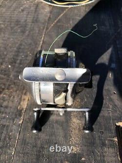 Vtg 1950 Tulsa Zebco 33 Spinner Reel Fishing Made In USA État Incroyable
