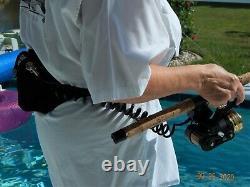 Vtg Électrique Zebco Omega 154 Reel Fishing John ' Pour Les Personnes Handicapées Par A-dec Mfg Ra