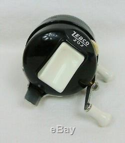 Vtg Zebco 202 Zeebee Moulinet À Filer Type 1 Noir En Boîte Originale Avec Instructions
