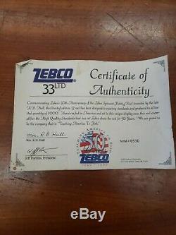 Zebco 33 50e Anniversaire Reel # 530 Sur 1000 Fait Rare Commémorative