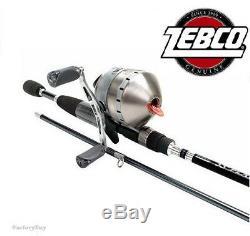 Zebco 33 Canne Et Canne À Pêche À Action Moyenne Combinée Spincast Platinum 33pl / Plc602m