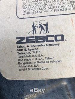 Zebco 33 Rhino Tough Combo Rod Et 2 Moulinets De Pêche Bobine Vintage 1994 Zrc56ml Rod