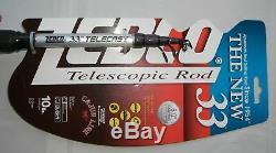 Zebco 33 Spincast 6' Pêche Telescoping Combo Canne Et Moulinet Nouveau! # 33605mtel