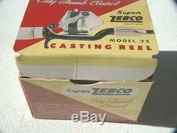 Zebco Chrome 22 Bobine En Super Top Box Rare Flip Très Belle Photo De Ce De Voir