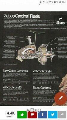 Zebco Cru Cardinal 7 Reel