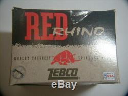 Zebco Red Rhino, 2 Février 2001 Dernière Bobine Construit Etats-unis, Nouveau Dans La Boîte Withcoa. Comment Rare Do