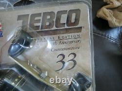 Zebco Special Edition 50th Anniversary 33 Bobine De Pêche Faite Aux États-unis (lot #16367)