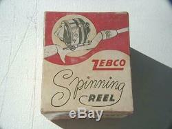 Zebco Vintage 33 Spinnerhead Plastique, Boîte Et Documents, Unité Très Agréable. Bateau Gratuit